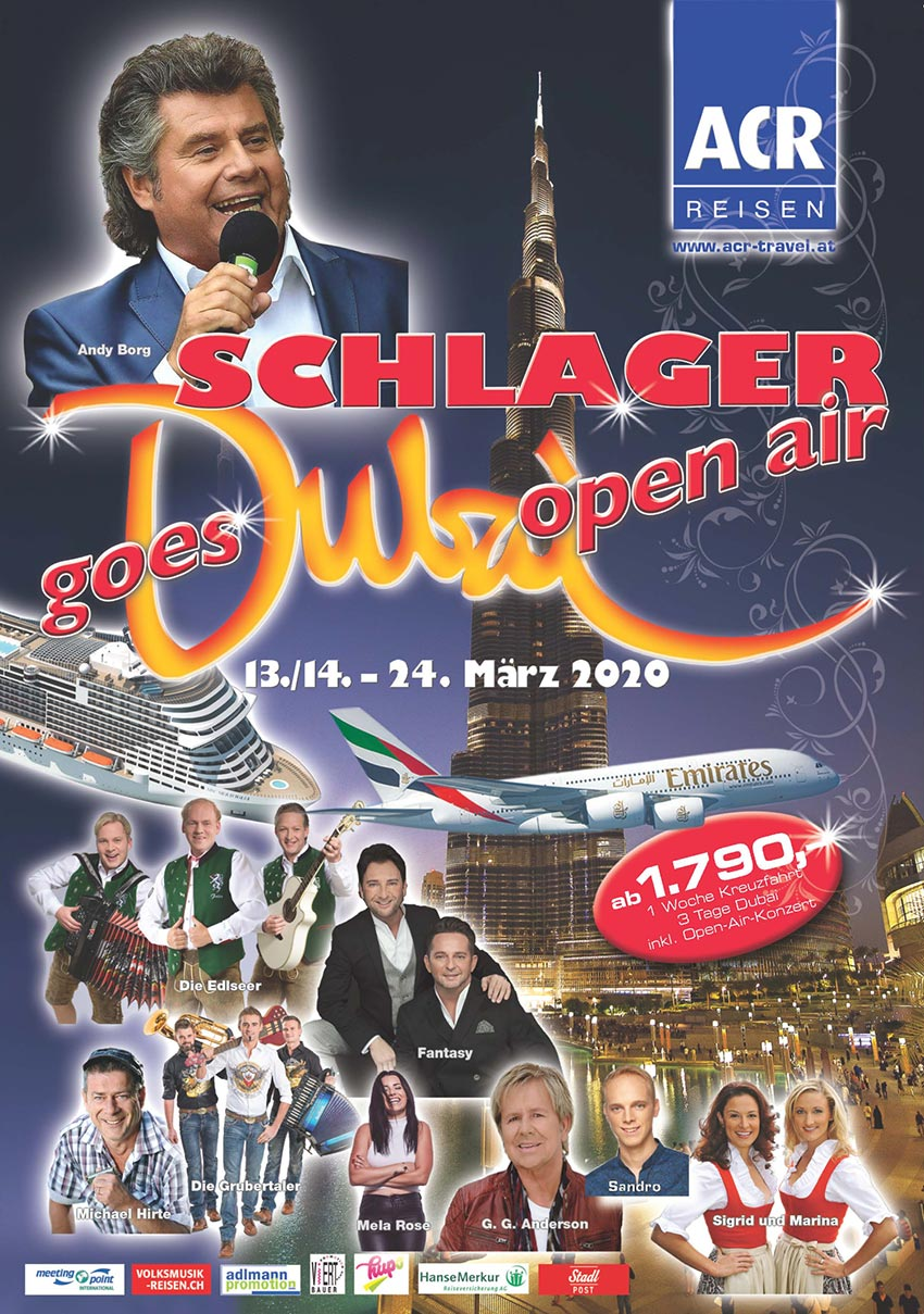 Schlager goes DUBAI Open Air - am 13.03.2020