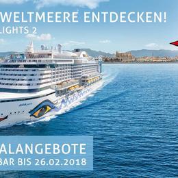 Mediterrane Highlights 2 - AIDA Pauschalangebote inkl. 50 € Bordguthaben