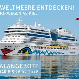 Abfahrten ab Kiel - AIDA Pauschalangebote inkl. 50 € Bordguthaben